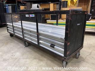 "(75+) 2"" Diameter 8' Uprights Aluminum Trade Show Poles & Cart"
