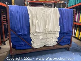 Cart Of (55) 8' Blue And White Show Ready Backwalls