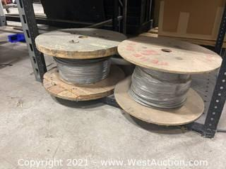 (2) Spools Of Aircraft Cable
