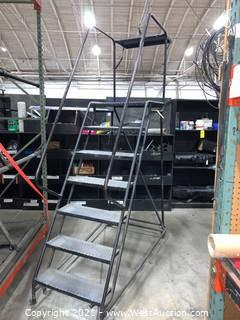 7' Rolling Warehouse Staircase Ladder