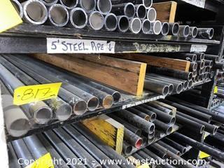 """(1)  Shelf of 5', 5-1/2, & 6' Steel - 2"""" Diameter"""