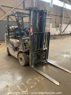 5,000 lb Nissan Forklift AF50LP (Bad Motor)