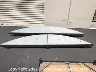 (4) BilJax Quarter Round 2ft Stage Platform