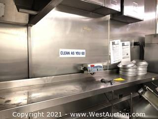 """72"""" Stainless Steel Shelf and Pie Pans"""
