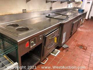 """256"""" Stainless Steel Food Preparation Station"""