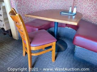 Booth Table & Wooden Chair (Booth/Bench Not Included)