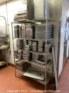 Metro Rack and Stainless Trays