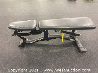 Matrix Adjustable Flat/Incline Bench