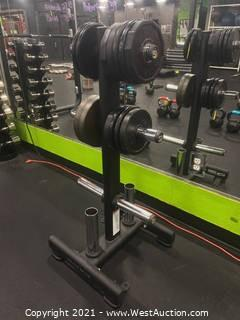 Matrix Plate And Barbell Rack With (13) Plates