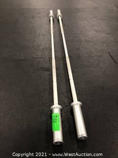 (2) GP Industries Barbells