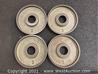 (4) 5lb Plates