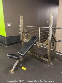 Hammer Strength Incline Bench With Weight Storage