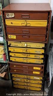 14 Kar & Lawson Metal Hardware Drawer Cabinet