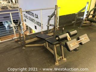 Hammer Strength Decline Bench With Weight Storage