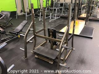Hammer Strength Olympic Military Bench With Weight Storage