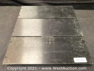 (3) Mid Atlantic 4RU Blank Panel