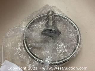 (6) Moen YB5486BN Brushed Nickel Towel Rings