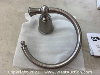 (5) Moen YB2586BN Brushed Nickel Towel Rings