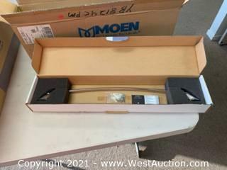 "(3) Moen YB8124CPM Chrome/Platinum 24"" Towel Bars"