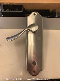 Schlage FA359CHP619FLO Satin Nickel Inside Handleset
