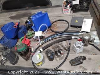 Pumps, Hydraulic Hoses, Parts, Water Barriers (Orange & Green Pumps Not Included)
