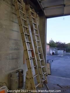 (2) Werner 24' Extension Ladders