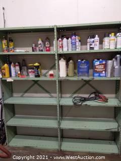 (2) Metal Shop Shelves