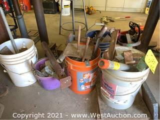 (6) Buckets Of Miscellaneous Metal