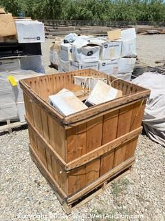 Crate Of John Deere B/Valve E-1 Rotor JD & Toro And Other Parts