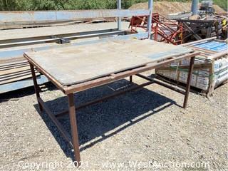 "Steel Table Frame 6' x 51"" x 33"""