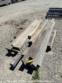 Assorted Wood Beams 4' To 8'
