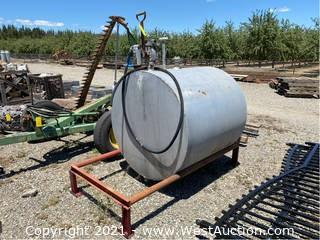 Diesel Tank With Pump And Rack (Quarter Full)