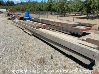 """Assorted Wood Beams; 120"""" to 28'"""