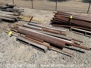 """Pallet Of Assorted Pipes: 24"""" x 105"""""""
