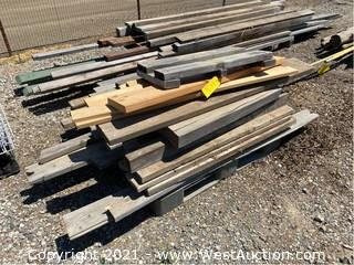 """Pallet Of Assorted Wood; 23"""" To 75"""""""