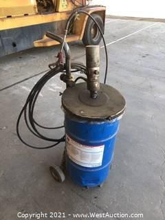 Grease Pump with Drum and Dolly