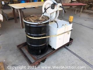 Portable Oil Transfer Tank System With Hose Reel