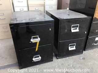 (2) Flameproof Filing Cabinets