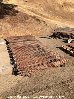 Pallet of Metal Fencing Sheets