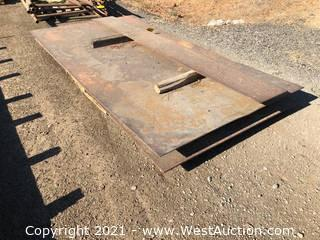 Pallet Of (3) Steel Plates