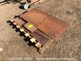 Pallet Of Assorted Steel Plates
