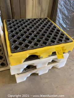 (3) Spill Containment Pallets