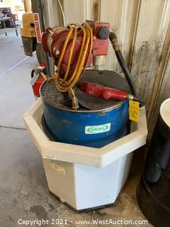 Diesel Drum with Electric Pump Meter and Spill Containment Container