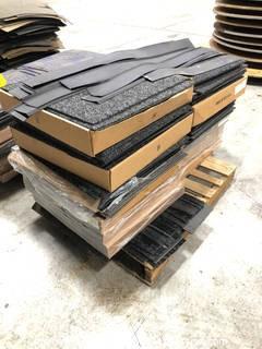 Pallet of (160+) Commercial Carpet Squares and Trim Pieces