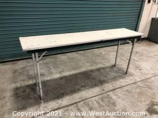(20) Wooden Folding Tables