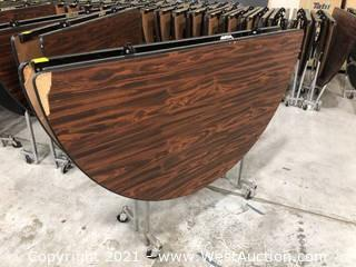 Rolling Circular Folding Table