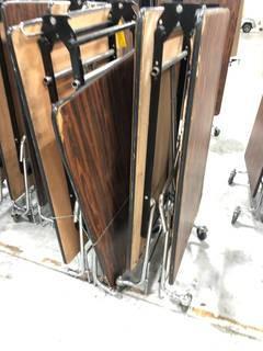 (2) Mobile Folding Tables
