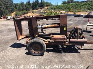 Trailer Mounted Log Splitter with Volkswagen Engine
