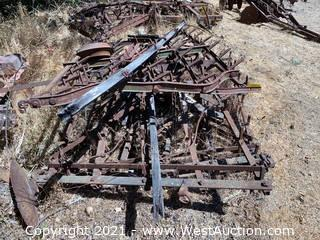 (4) Drag Spiked Harrow Sections