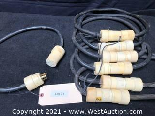(7) L5-20 Power Cable 12/3- 3ft